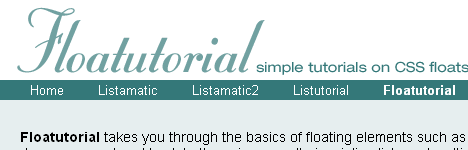 Floatutorial Web Page Banner