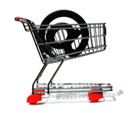 Shopping Cart with @ Sign