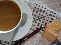 Coffee and a Crossword Puzzle