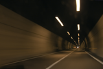 Speeding through the tunnel